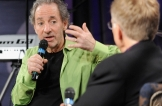 LOS ANGELES, CA - OCTOBER 22:  Harry Shearer (L) onstage with GRAMMY Museum executive director Bob Santelli during The Drop: Harry Shearer at The GRAMMY Museum on October 22, 2012 in Los Angeles, California.  (Photo by Mark Sullivan/WireImage) *** Local Caption *** Harry Shearer;Bob Santelli