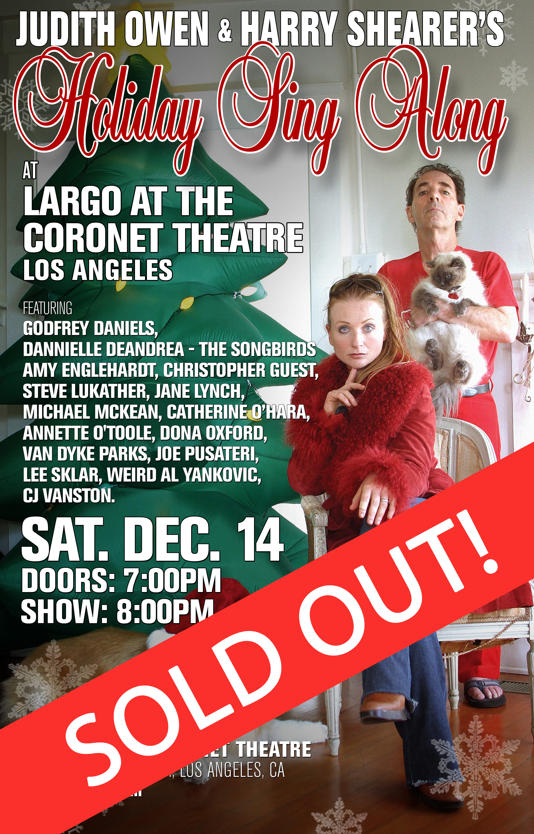Judith Owen & Harry Shearer Holiday Sing Along - Chicago, December 2, 2013
