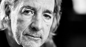 Harry Shearer in black and white