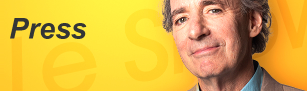 Press banner - Harry Shearer